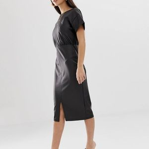 ASOS Petite Faux Leather Dress